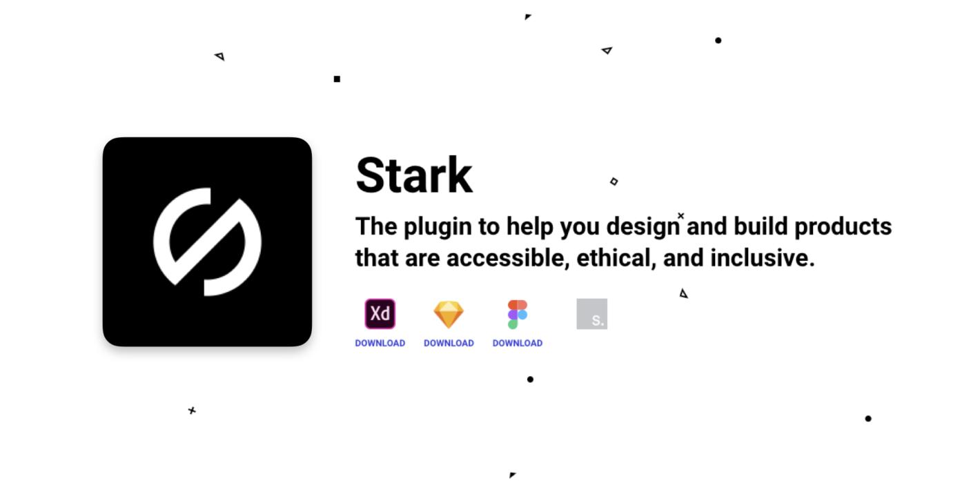 Stark のアイコンとサイトのスクリーンショット
